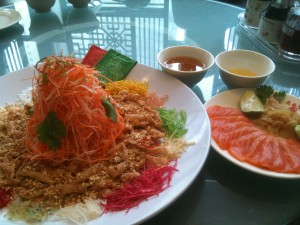 Yu Sheng, the salad that Malaysian Chinese toss to ensure prosperity for the coming year. Photo by Jade Chan.