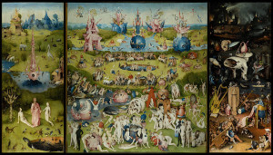 The Garden of Earthly Delights, a famous Bosch triptych in Madrid's Prado Museum