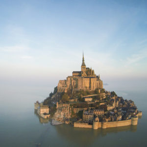 Mont-Saint-Michel is a remarkable sight as you approach. Photo from Normandy Tourist Board.